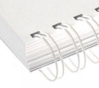 Металлические пружины AGAT форматные  А4 6,4мм уп/100 белый