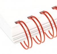 Металлические пружины AGAT форматные  А4 6,4мм уп/100 красный