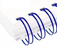 Металлические пружины AGAT форматные  А4 9.5мм уп/100 синий