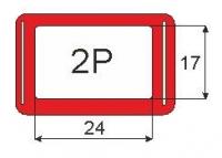 Окошки 2Р (17х24мм) 370мм (в сборе, уп/100шт)