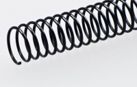 Пластиковая спиральная пружина(48 петель)14mm черная уп/100