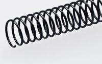 Пластиковая спиральная пружина(48 петель)16mm черная уп/100