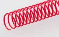 Пластиковая спиральная пружина(48 петель)8 mm красная уп/100