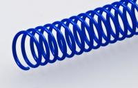 Пластиковая спиральная пружина(48 петель)8 mm синяя уп/100