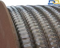 Пружина металлическая в бобине  6,3мм 80 000 петель серебро