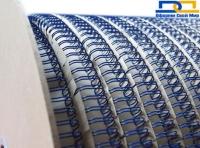 Пружина металлическая в бобине 6,3мм 80 000 петель синий